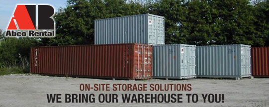 Abco Rental Storage Container Rentals in Maine Massachusetts